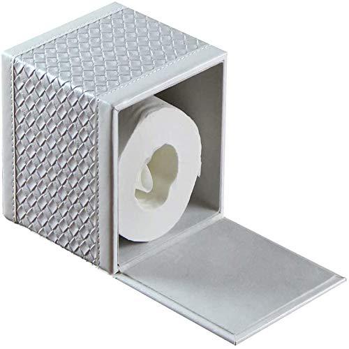 Soporte Cuadrado de Cuero para Caja de pañuelos, Cubierta de pañuelos faciales en Forma de Cubo, Organizador de servilletas con Fondo magnético, Papel de Bombeo