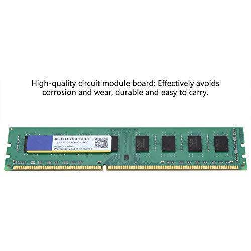 Memoria RAM Memoria de Alta Velocidad de Funcionamiento RAM 4G DDR RAM, DDR 240Pin, para computadora de Escritorio DDR3 PC3-10600 para computadora