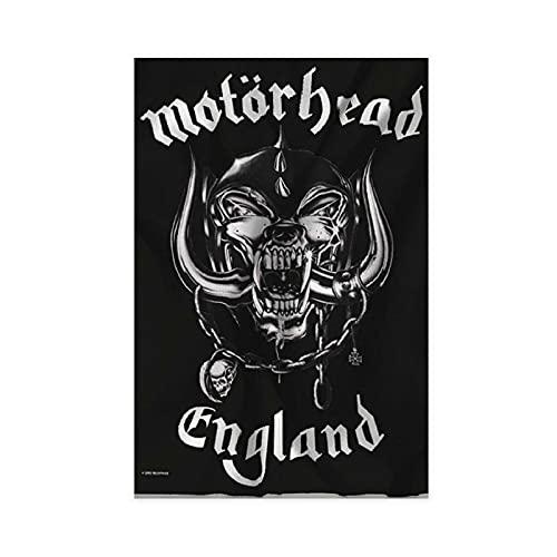 Heart Rock Original Motorhead England-Flagge, Stoff, mehrfarbig, ohne Rahmen: 30 x 45 cm