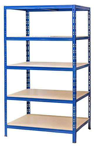 Schwerlastregal 177x100x60 cm blau 5 Böden 175 kg Werkstattregal Reifenregal Archivregal Lagerregal