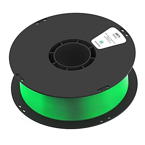 3D Printer Filament, ABS K5T Filament, Transparent, High Light Transmittance, 1.75mm, 1kg (2.2lb) Spool-Transparent green_1.75mm