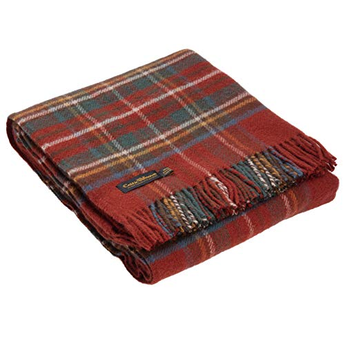 Celtic Weave Antique Royal Stewart Tartan Throw Blankets 100% Lambswool Red Throw Blanket Plaid Blanket Fall Blanket Bed Throw Outdoor Blanket Tartan Blanket Plaid Throw Blanket Boho Vintage