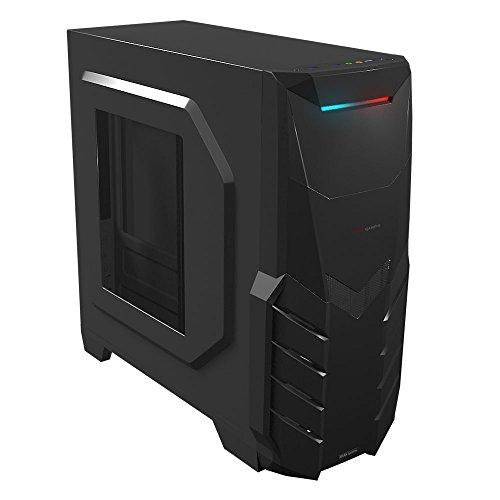 Mars Gaming MC316 - Caja de ordenador para gaming, con ventilador 12 cm (micro ATX, ventiladores hasta 153 mm, USB 2.0/3.0, audio HD, micrófono), negro