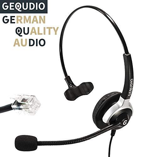 Auricular con micrófono para Cisco teléfonos con conector RJ | 60 g de peso