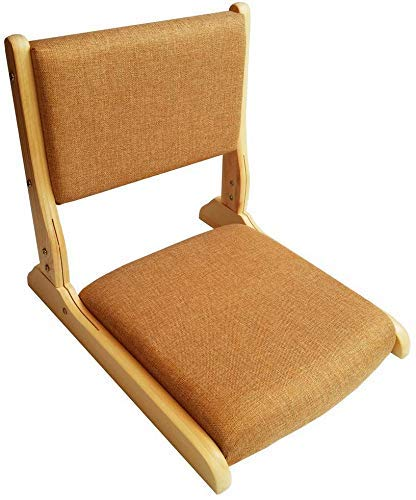 Silla Piso Tatami meditación útil, Materiales Naturales Plegables Silla Ventana Flotante bambú Es