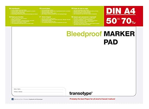COPIC 25001 Markerblock DIN A4, 75 g/qm, 50 Blatt, 1 Stück