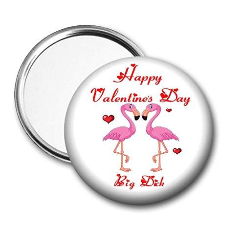 Espejo de bolsillo, regalo para el día de San Valentín para él o ella, diseño de flamenco rosa Big Dick