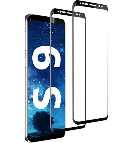 [2 Stück] Panzerglas Schutzfolie kompatibel mit Samsung Galaxy S9, Blasenfrei HD Klar Schutzfolie Glas, 9H Härte kratzfest Anti Fingerabdruck Panzerglasfolie Displayschutzfolie