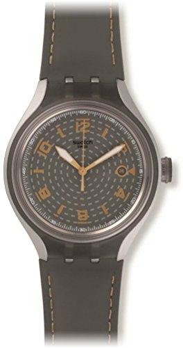 Swatch Reloj Analógico para Hombre de Cuarzo con Correa en Cuero YES4007