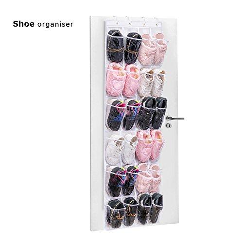 Organizzatore Armadio porta scarpe , trasparente Armadio Organizzatore Salvaspazio Sopra Porta , 24 Tasche per memorizzare Scarpe, Giocattoli, Utensili e altri piccoli accessori – LOVE99