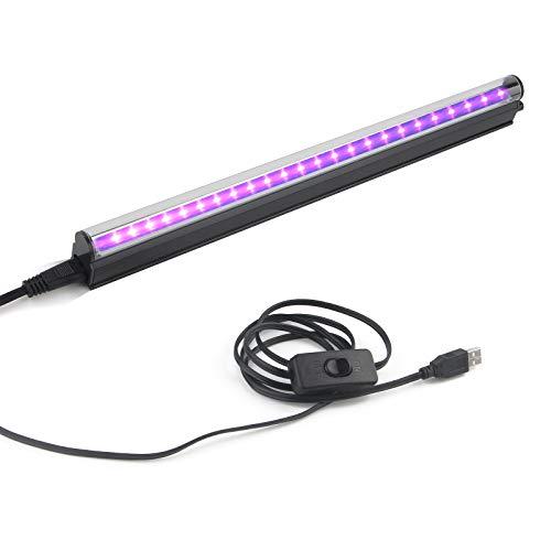 USB Black Light Bar - 10W 1ft Portable UV Lumière Noire Tube