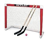 "Mylec Deluxe Hockey Goal Set , Red/White, 48"" x 37"""