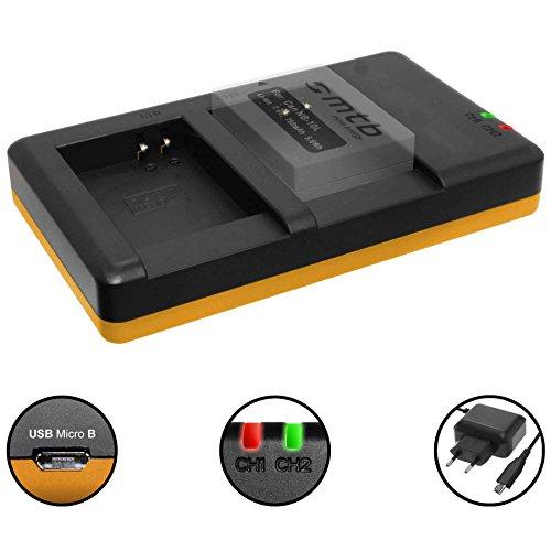 Cargador Doble (Corriente, USB) para Canon NB-10L / PowerShot G15, G16, G1 X, G3 X, SX40...