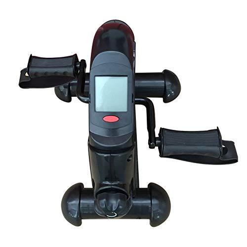 Shykey Mini Bicicleta Estática Portátil, Debajo del Escritorio Bicicleta Pedal Ejercitador, Máquina De Venta Ambulante De Brazos Y Piernas con Pantallas LCD