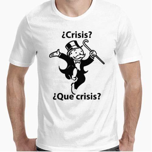 Positivos Camiseta Crisis Monopoly Camiseta - Diseño Original - - XL