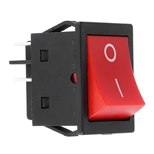 Interruptor oscilante - 30A soldador máquina de soldadura de 4 pines Tipo de barco ON/OFF del interruptor basculante de conmutación Uso Industrial 4-pin de balanceo (tamaño : 1pcs)