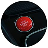 Gel Emblema Start Stop Botón Protectora Pegatinas Keyless Go Carbono Cover Tapa Cubierta