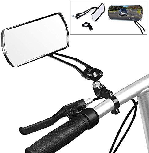 SOULBEST Fahrradspiegel Rückspiegel - 1 Paar Rückspiegel Fahrradspiegel 360°Drehung Verstellbar für MTB Fahrrad Motorrad E-Bike Rollstuhl (Schwarz)