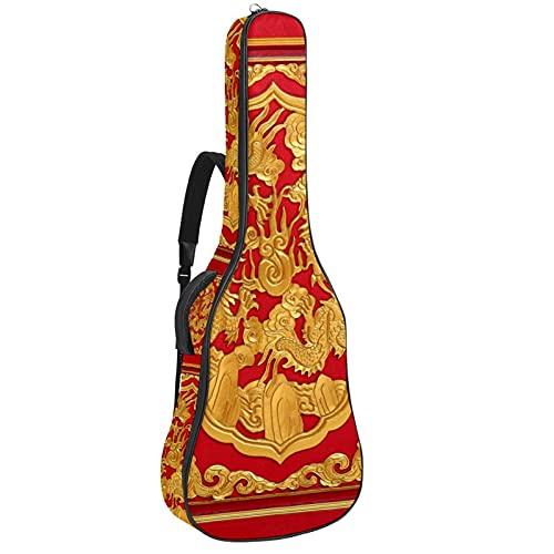 Madera tallada en la puerta roja estilo chino, bolsa de transporte para...
