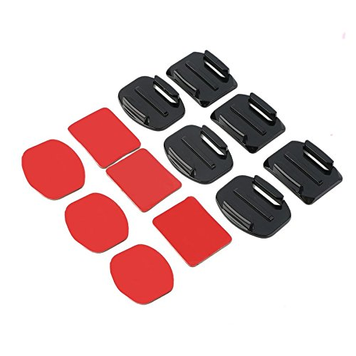 Phenebta 12Pcs Compact And Portable Helmet Accessories Flat Curved Adhesive Mount for Gopro Hero 1/2/3/3+