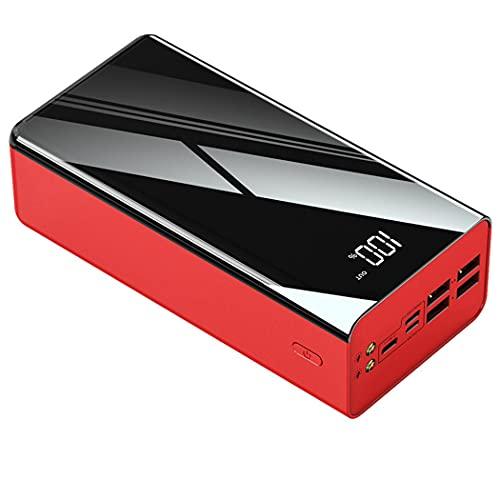 PIANAI Cargador USB Multiple/Cargador USB c/Cargador portatil/Cargador de Pilas Recargables/Cargador Pilas/Mini Power Bank Mini/Power Bank USB c,Rojo,100000mAh