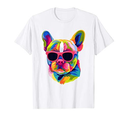Pop Art French Bulldog Cute Gift Fur Mom Dog Dad Frenchie T-Shirt