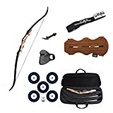Southland Archery Supply SAS Sage Take Down Recurve Bow Combo Package Kit with Case, Armguard, Stringer, Arrow Rest and Paper Target (45lbs, Right)