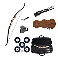 Southland Archery Supply SAS Sage Takedown Recurve Bow Combo Package Kit with Case, Armguard, Stringer, Arrow Rest, and Paper Target