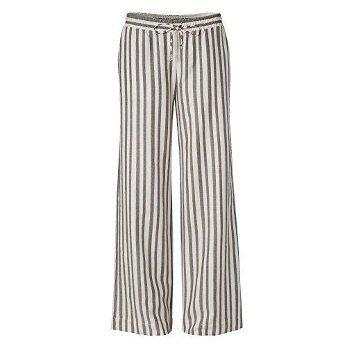 CONLEYS BLACK Damen Hose Schwarz/Beige Größe 36