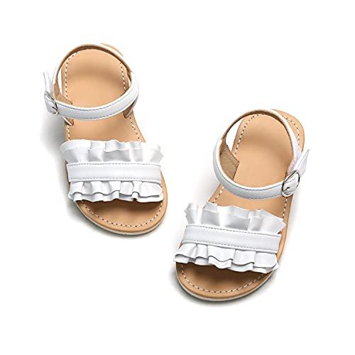 Felix & Flora Girls White Sandals Size 12 Toddler Little Kid Summer Shoes School Wedding