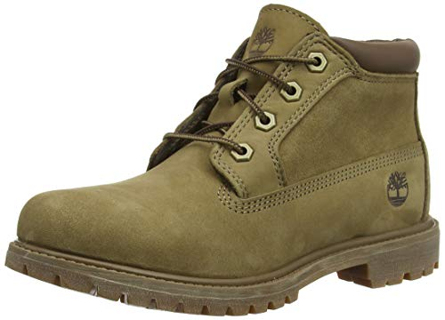 Timberland Damen Nellie Leather Suede Chukka Boots, Grau (Taupe Nubuck), 38 EU