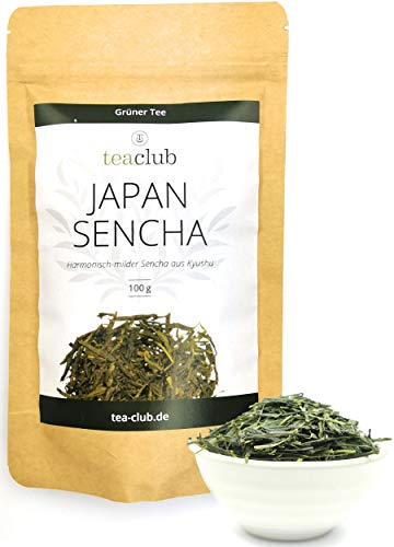 Japan Sencha Grüner Tee Lose Blätter 100g, Japanischer Grüntee aus einem Familienbetrieb, Teesorte Oku Midori - TeaClub Green Tea