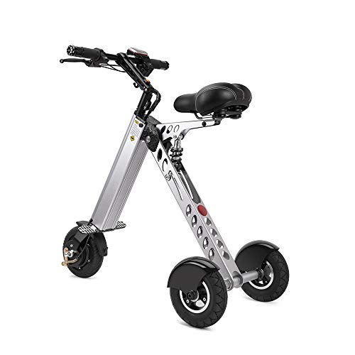 TopMate ES30 Electric Scooter Mini Foldable Tricycle Weight 14KG with 3 Gears Speed Limit 6-12-20KM/H | Full Charge 30KM Range | Especially Suitable for People Need Mobility Assistance and Travel