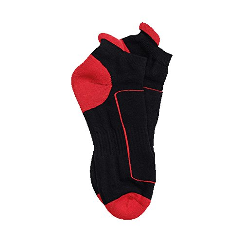 Regatta Activewear Unisex Sport Knöchel Socken (43-47 EU) (Schwarz/Rot)