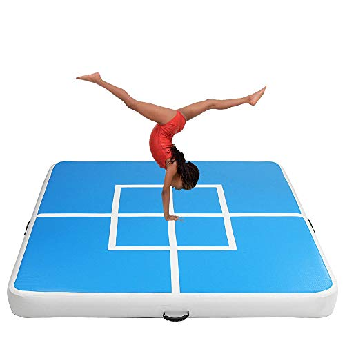 Yaunli Gymnastikmatte Aufblasbare Gym Air Track Gymnastikmatte Tumbling Training Exercise Praxis Yoga Matte (Farbe : Blau, Size : One Size)