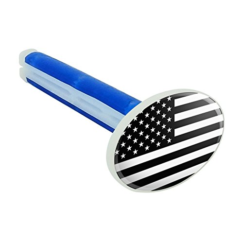 u a a auto air fresheners Graphics and More Subdued American USA Flag Black White Military Tactical Car Air Freshener Vent Clip