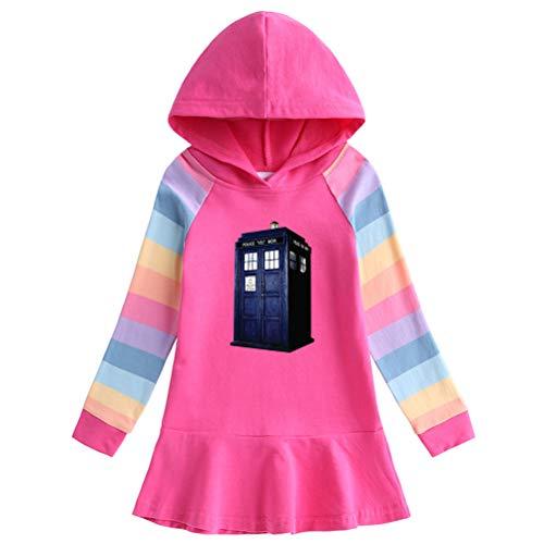 Doctor Who Pullover Schöne langärmlige Mäntel dünner komfortable Outwear Western Stil Sweatshirt Freizeit Pullover net rot weichen Hoodies for Jungen und Mädchen Junge und Mädchen