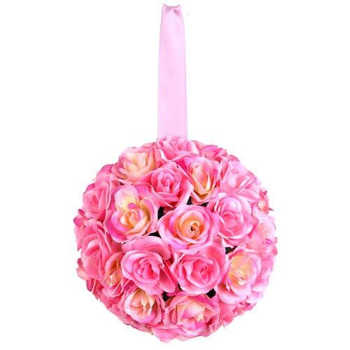 Euro Flora Künstliche Rosenkugel 30 cm (rosa)
