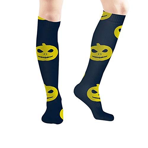 Fashion boutique clothing Halloween Design Elements Art Holidays Tube Knee High Socks 50Cm Unisex Over-The-Calf Tube Sports Socks Extra Long Compression Stocking