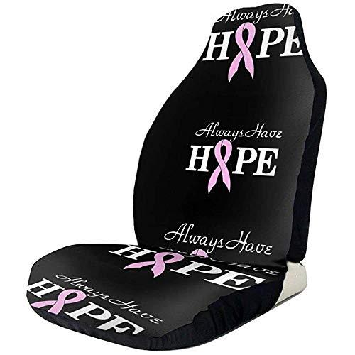 Fundas de asiento de coche Always Have Hope Breast Cance Elastic Bucket Seat Cover Universal Car Seat Accessories