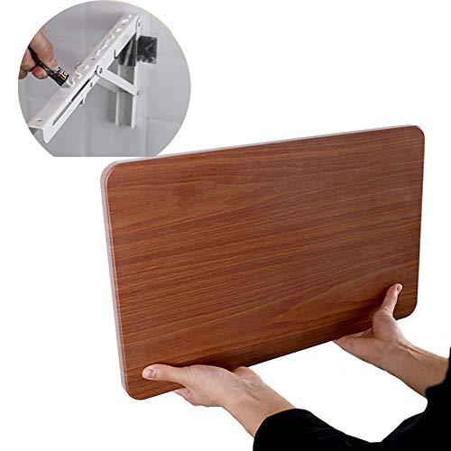 Kapige Wandtafels Opvouwbaar Met Metalen Beugel - Wandgemonteerde Drop-Leaf Tafel Voor Studie Werkbank & Keuken Eetbureau, Laad 50kg