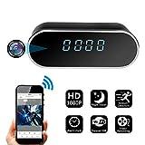 Spy Camera, CAMAKT WiFi Alarm Clock Hidden Camera HD 1080P Wireless Clock Nanny Camera Night Vision/Motion Detection for Home/Office Security.…