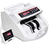 Goplus Money Counter Worldwide Bill Counting Machine Detector UV/MG Counterfeit w/External Display (White)