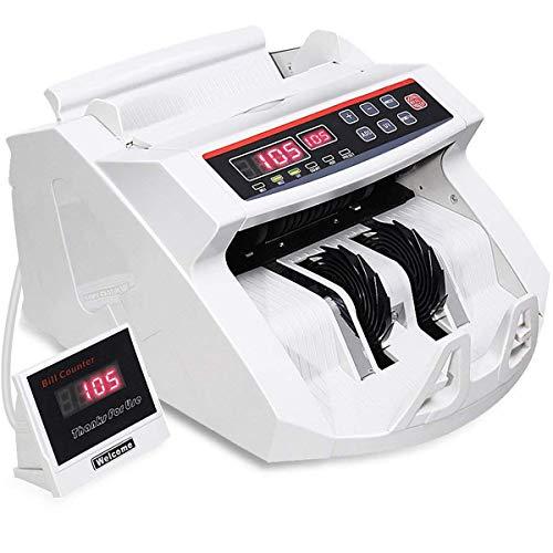 Goplus Money Counter Worldwide Bill Counting Machine Detector UV/MG Counterfeit w/External Display (White)