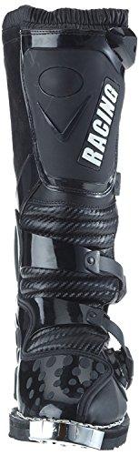 Protectwear Crossstiefel, Endurostiefel Racing aus Leder mit Kunsstoffschnallen, Schwarz, 41 - 2