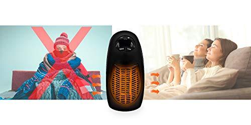 OLEO Calefactor Enchufe Cerámico, Calefactor de Pared Portátil, Calentador de Aire de Bajo Consumo , Termostato Regulable y Programable