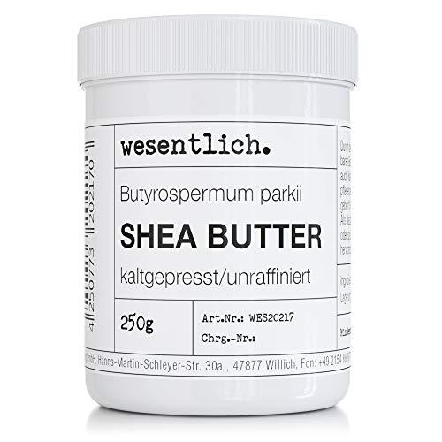 Sheabutter kaltgepresst 250g - 100% rein und unraffiniert - pure Pflege oder perfekte Basis für hochwertige Pflegeprodukte von wesentlich.