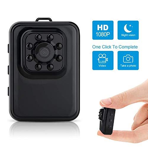Mini-Spion-Kameras verstecken, 1080P HD Kleine tragbare drahtlose Hauptsicherheitsüberwachungskamera, mit Nachtsicht und Motion Detection, Compact Indoor/Outdoor-Videogerät LMMS