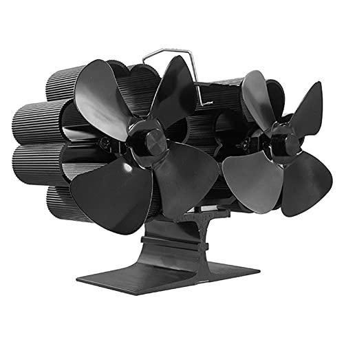 Seii Ventilatore Per Stufa A Legna A 8 Pale, Ventola Per Stufa A Doppio Motore Alimentata A Calore, Ventola Per Montaggio A Parete/da Tavolo, Ventola A Tubo Per Stufa A Doppia Testa Per Stufa A sturdy