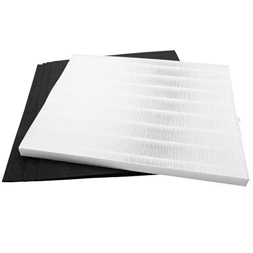 vhbw Filter Set passend für Winix P450 Luftreiniger - Ersatz für Winix 45HC, WRF45-HC, 123250 (4x Aktivkohlefilter + 1x HEPA-Filter) Luftfilter